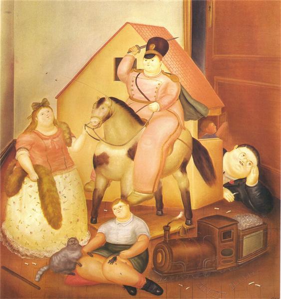 Room with Children's Games, 1970 - Fernando Botero