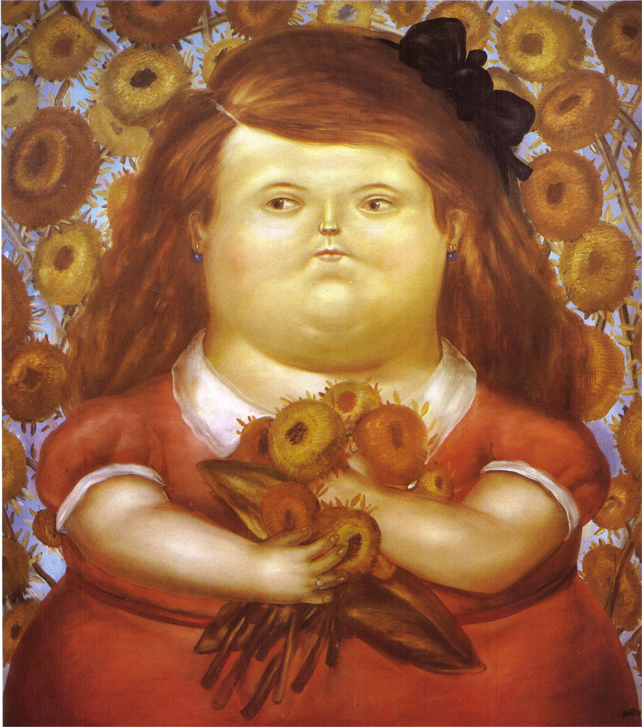Populaire Woman with Flowers, 1976 - Fernando Botero - WikiArt.org GU85