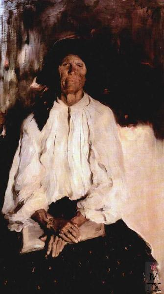 Portrait of Daria Ivanovna Tatarintseva, 1898 - Filipp Malyavin