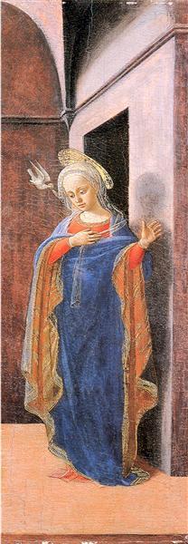 Annunciation, right wing, 1430 - Filippo Lippi