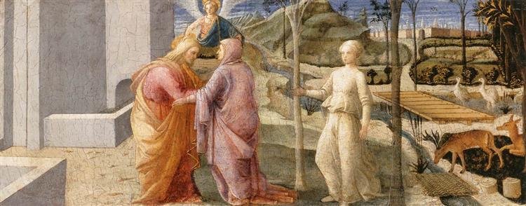 Meeting of Joachim and Anne at the Golden Gate, c.1445 - Fra Filippo Lippi