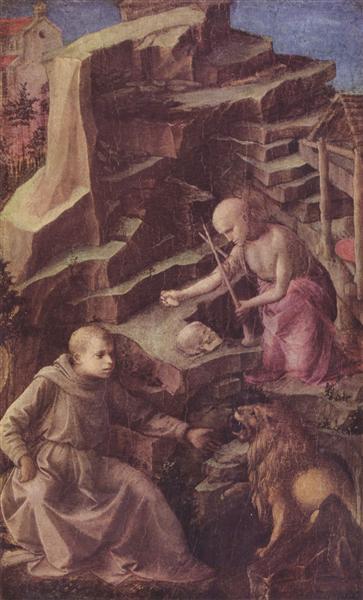 St. Jerome in the desert, 1456 - Filippo Lippi