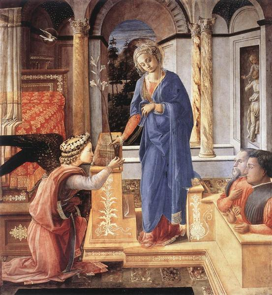 The Annunciation with two Kneeling Donors, 1455 - Fra Filippo Lippi