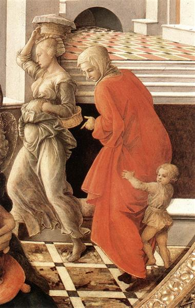 Virgin with the Child and Scenes from the Life of St. Anne (detail), 1452 - Filippo Lippi