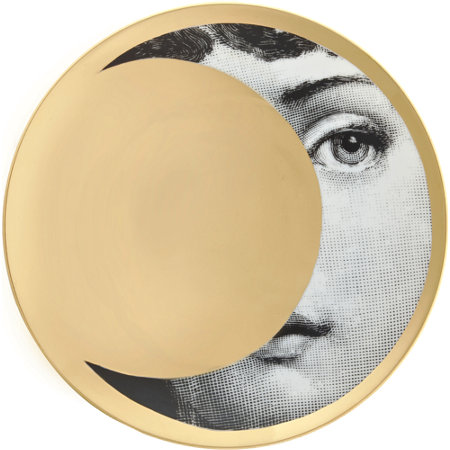 Theme & Variations Decorative Plate #39 (Crescent Moon) - Piero Fornasetti
