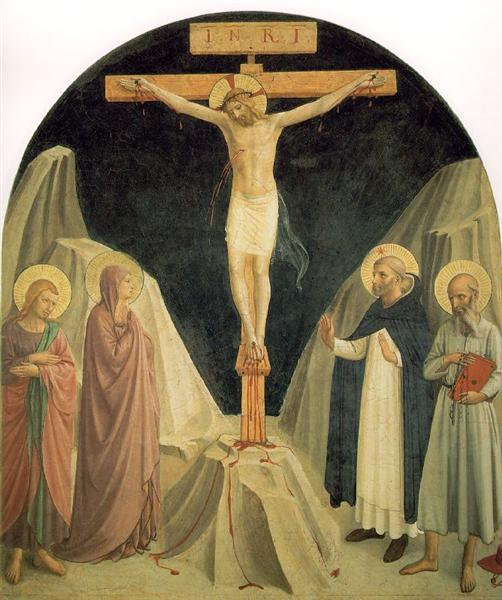 Crucified Christ with Saint John the Evangelist, 1441 - 1442 - Fra Angelico