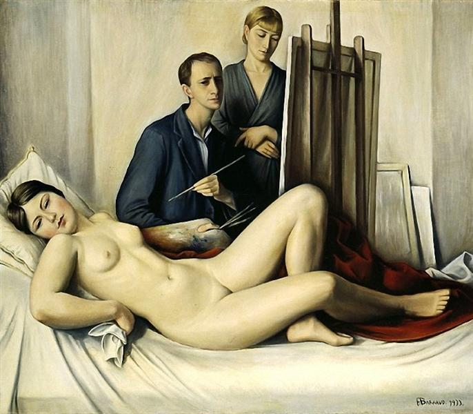 The Painting Session - Barraud François