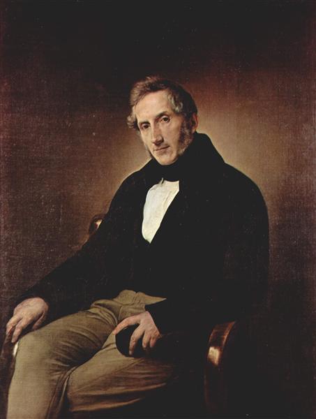 Portrait of Alessandro Manzoni, 1841 - Francesco Hayez
