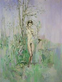 Nude Woman in Landscape - Франсис Грюбер