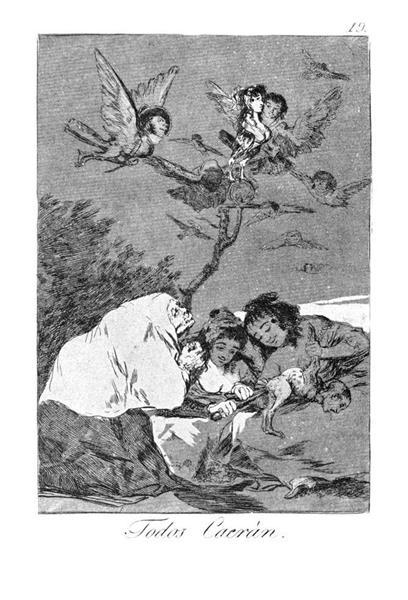 All will fall, 1799 - Франсиско де Гойя
