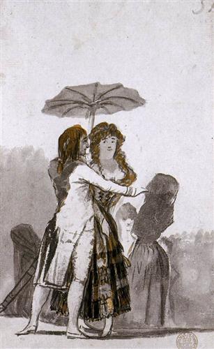 "Le tableau ""L'Ombrelle"" (el Parasol) par Francisco Goya"