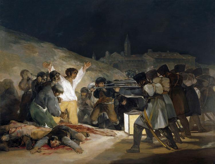The Third of May 1808 (Execution of the Defenders of Madrid), 1814 - Francisco Goya