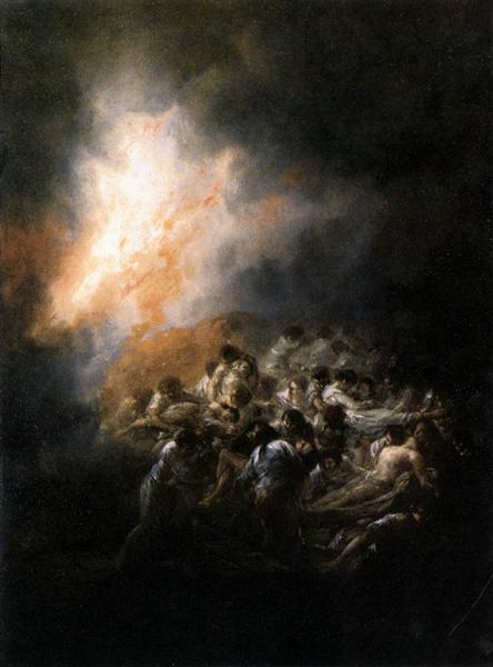 Fire at Night, 1793 - 1794 - Francisco Goya