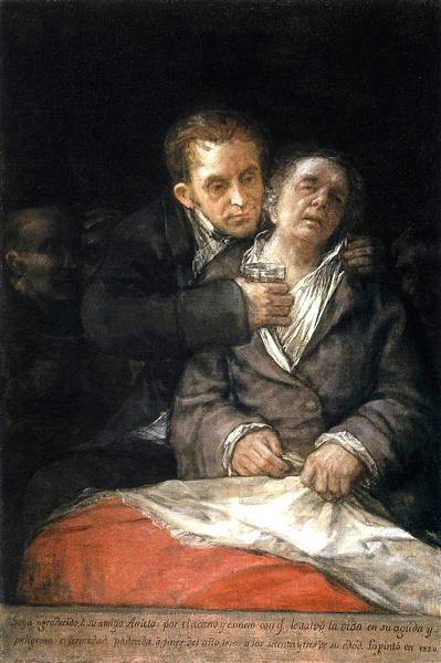Goya Attended by Doctor Arrieta, 1820 - Francisco Goya