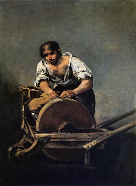 Knife Grinder, 1808 - 1812 - Francisco Goya