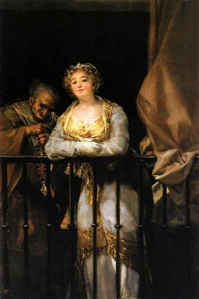Maja and Celestina on a Balcony, 1808 - 1812 - Francisco Goya