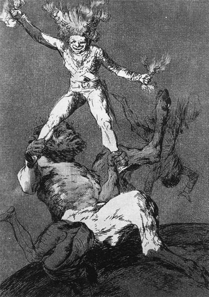Rise and Fall, 1799 - Francisco Goya