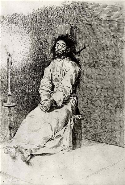 Stiffened, c.1790 - Francisco de Goya