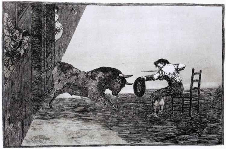 The Bravery of Martincho in the Ring of Saragassa, 1815 - 1816 - Francisco Goya