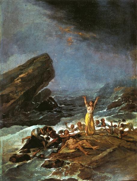 The Shipwreck, 1793 - 1794 - Francisco de Goya
