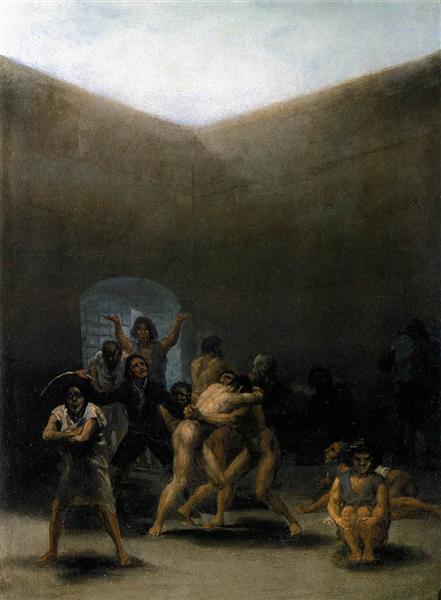 El patio de una casa de locos, 1794 - Francisco de Goya