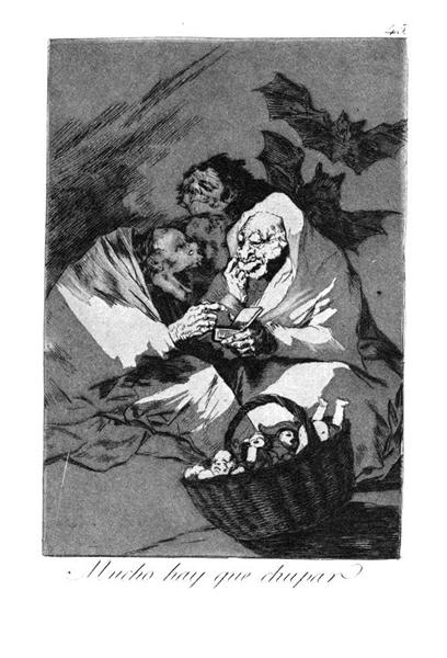 There is a lot to suck, 1799 - Francisco Goya