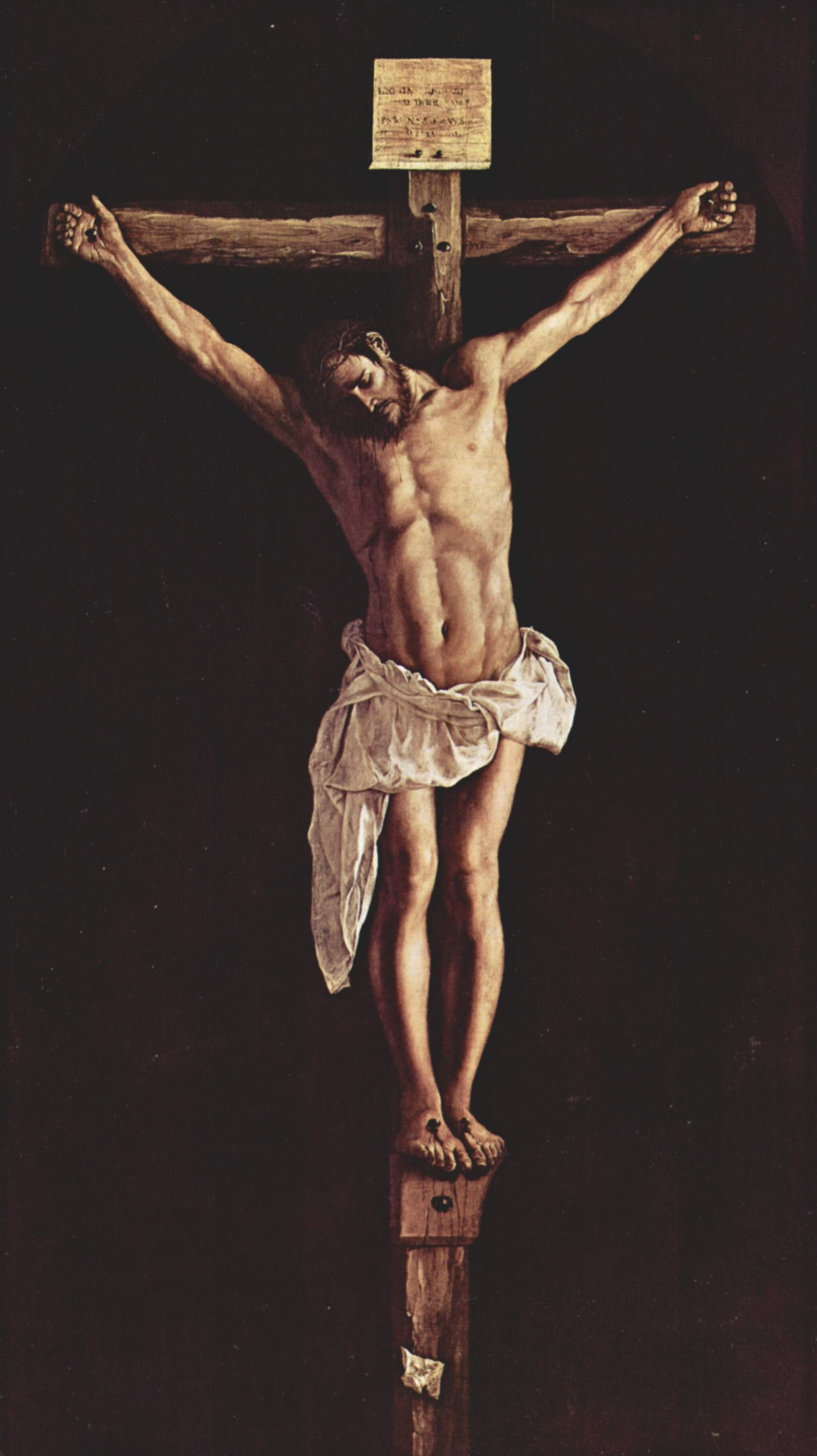photo courtesy : http://uploads4.wikiart.org/images/francisco-zurbaran/christ-on-the-cross-1627.jpg