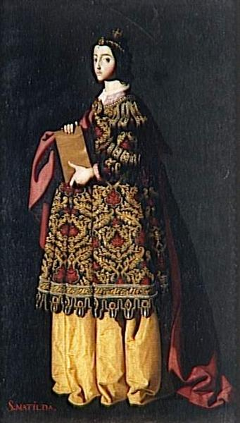 Saint Mathilda - Zurbaran Francisco de