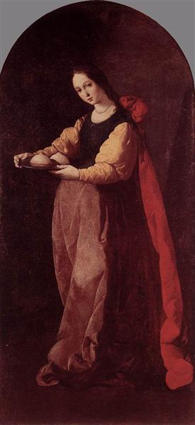 St. Agatha, 1630 - 1633 - Francisco de Zurbaran