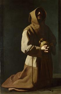 São Francisco Ajoelhado - Francisco de Zurbarán