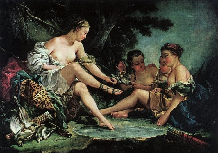 Diana after the Hunt, 1745 - Francois Boucher