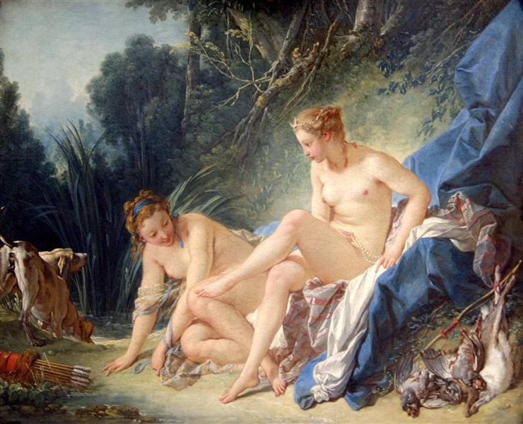 Diana getting out of her bath, 1742 - Francois Boucher