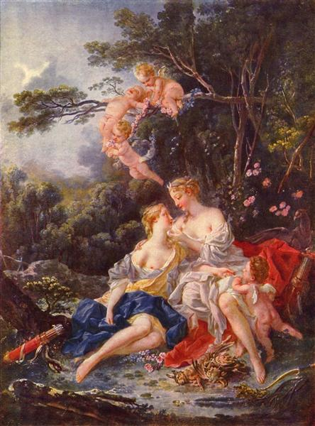 Jupiter and Callisto, 1744 - Francois Boucher