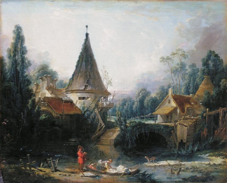 Landscape near Beauvais  early, 1740 - Francois Boucher