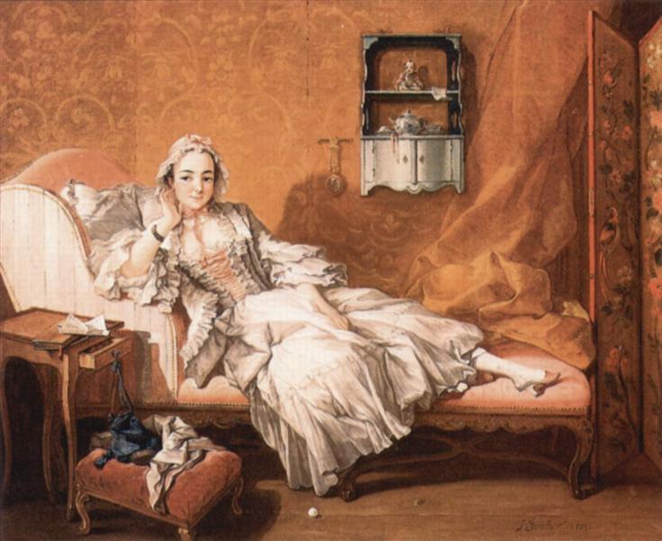 Portrait of the artist`s wife, 1743 - Francois Boucher
