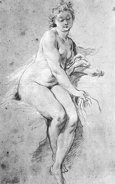 Seated Nude, 1738 - Francois Boucher