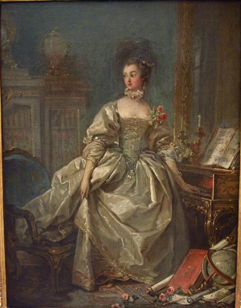 Marquise dePompadour, c.1750 - Francois Boucher