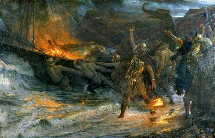 The Funeral of a Viking, 1893 - Frank Dicksee