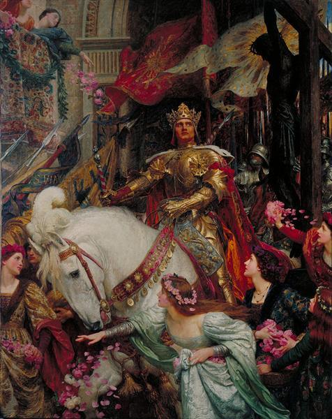 The Two Crowns, 1900 - Frank Bernard Dicksee