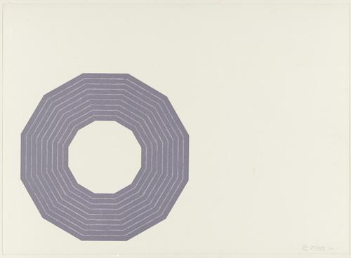 Kay Bearman (from the Purple Series), 1972 - Frank Stella
