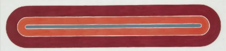 Rayy Sketch, 1970 - Frank Stella