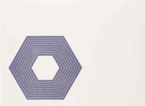 Sidney Guberman, from Purple series, 1972 - Frank Stella