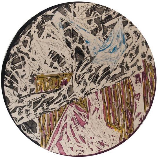Swan Engraving Circle II, State III, 1983 - Frank Stella