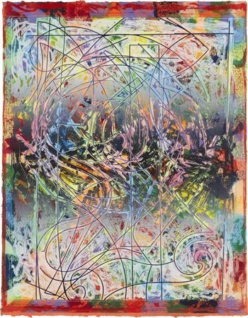 Talladega Three II, from the Circuits series, 1982 - Frank Stella