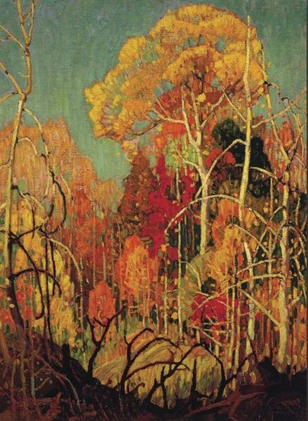 Autumn in Orillia, 1924 - Franklin Carmichael