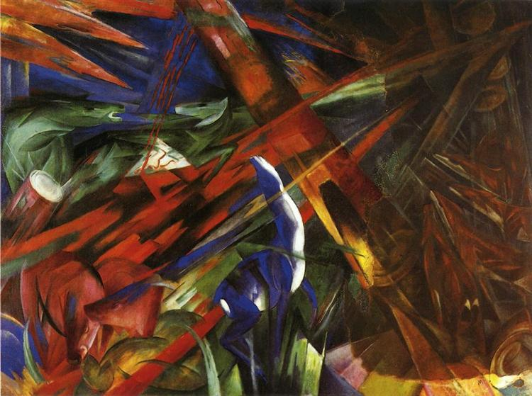 Animal Destinies (The Trees show their Rings, the Animals their Veins) - Franz Marc