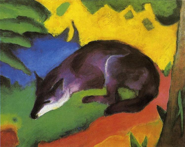Blue Fox - Franz Marc