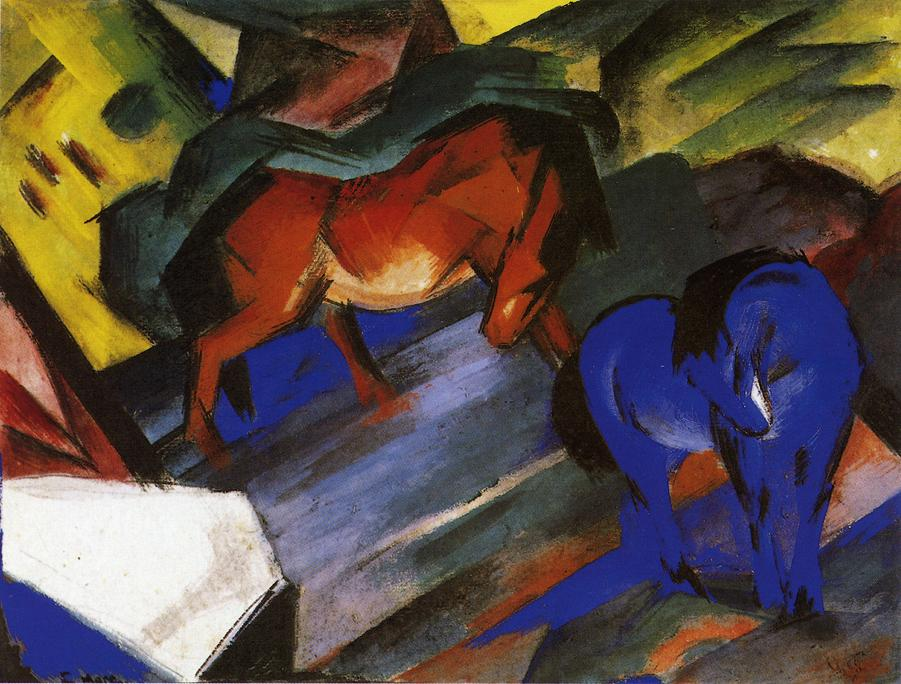 Red and Blue Horse, 1912 - Franz Marc - WikiArt.org