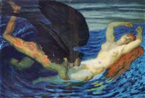 Wind and wave - Franz Stuck