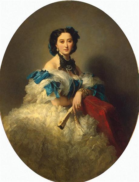 Portrait of Countess Varvara Musina-Pushkina - Franz Xaver Winterhalter
